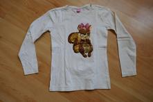 Devčenské tričko s flitrovou veveričkou, dopodopo,128
