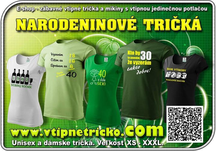 f95cc7462fb7 Vtipné tričká s potlačou nájdete v e-shope www.vtipnetricko.com na adrese