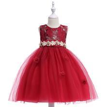 Krásne detské šaty l5012 - červené 1ffaa9aa786