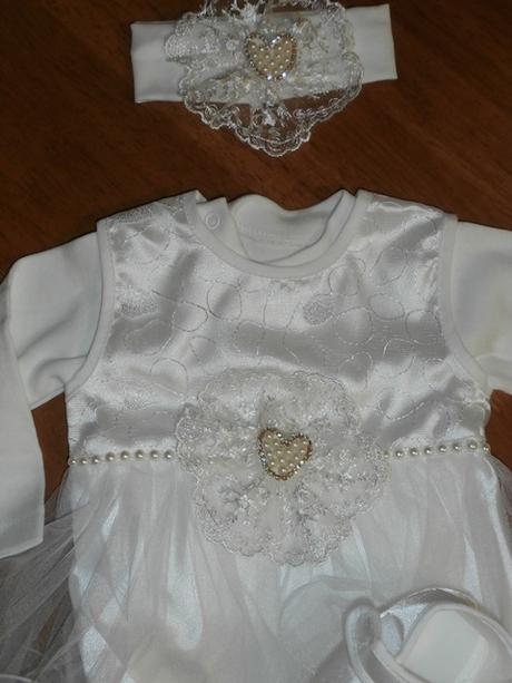 Dievčenské šaty na krst s body smotanová 21 cca 62 62a42bb1e8b