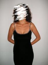 Čierne dlhé šaty , m