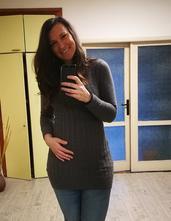 Hnedé tehotenské šaty, m