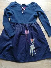 Krasne šaty s balónom a srnkou, h&m,98