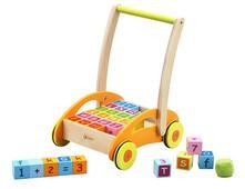 Vozík s edukačnými kockami písmená a číslice 12m+,
