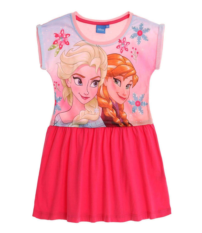 dbaada3f043b Letné dievčenské šaty disney frozen ružové