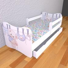 Detská posteľ s odnímateľnými bočnicami - macko,