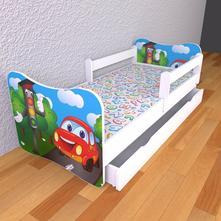 Detská posteľ 140cm x 70cm semafor, 70,140