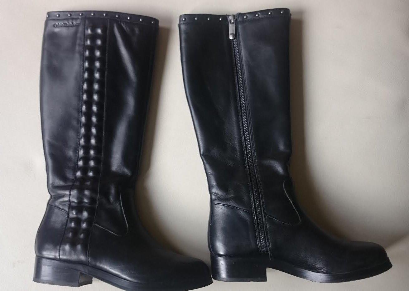 d21e5f177d Čierne kožené čižmy calvin klein