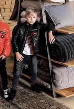 Chlapčenský prechodný prešívaný kabát mm 268 black, 152 / 158