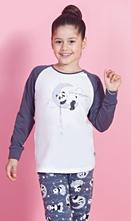 Detské pyžamo dlhé panda na mesiaci, vienetta kids,134