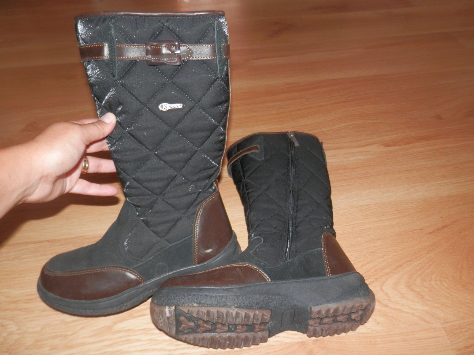 4c27ebd18a Čierne čižmy na zimu zn. kefas