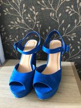 Kráľovsky modré sandálky na platforme vel.39, 39
