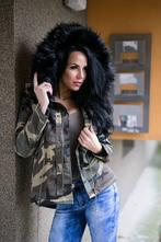 Maskáčová zimná bunda s kožušinou 75db936d27b