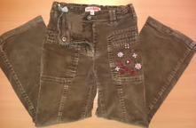 Menžestrové nohavice s výšivkou, na 6 r, 116