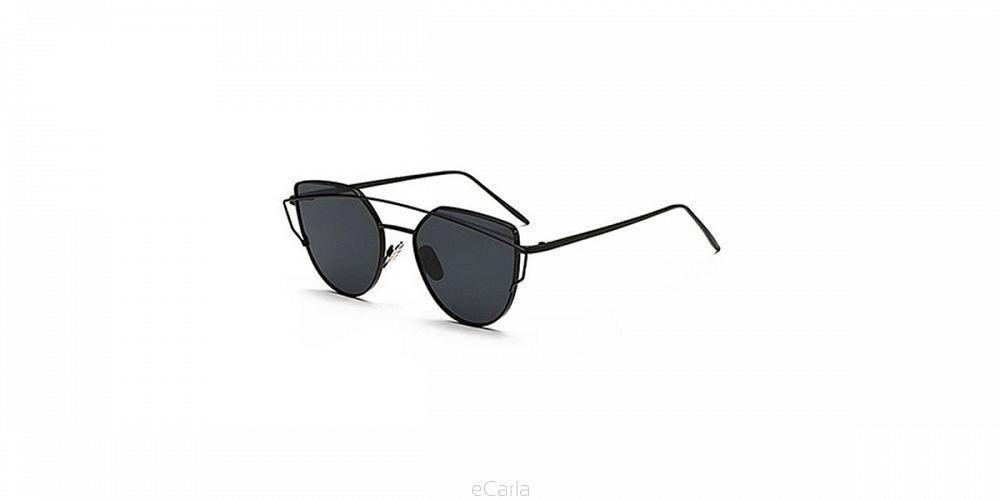 Slnečné okuliare zrkadlové mačacie extra čierne 20de2671575