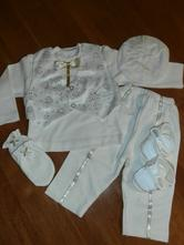 Chlapčen. oblečenie na krst smotanová 7 cca 62/68, 62