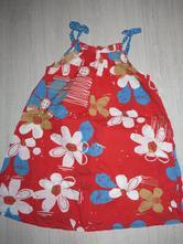 Letné šatičky červené s kvetinkami, next,122