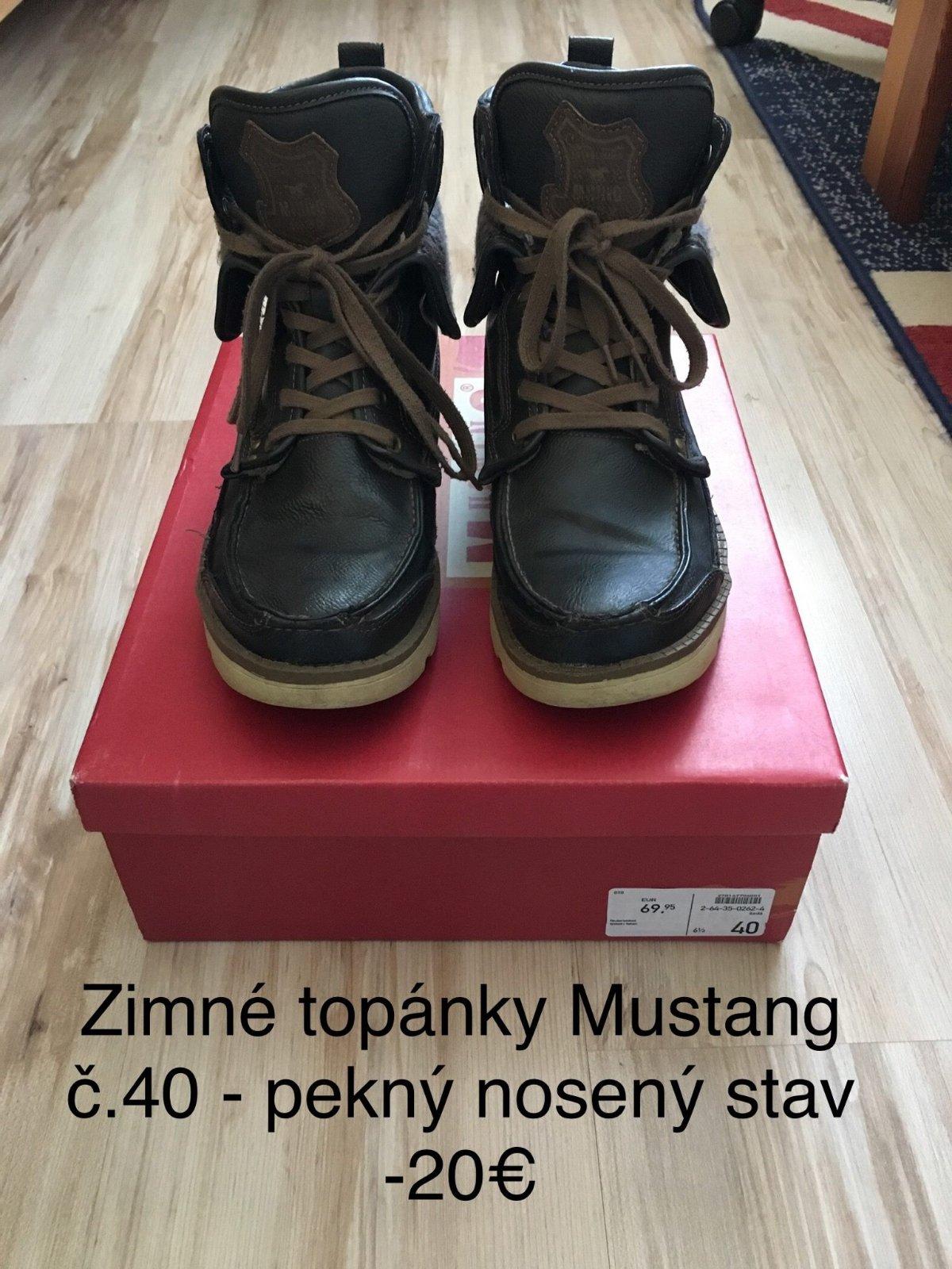 22ce45cfb5e5b Zimné chlapčenské/pánske topánky mustang č. 40, mustang,40 - 20 € od  predávajúcej cadbury | Detský bazár | ModryKonik.sk