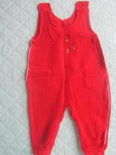 Cervene zateplene nohavice 74, 74