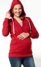 Teplá mikina na dojčenie červená lenora, m / s