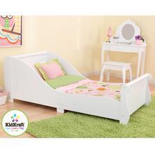 Kidkraft detská posteľ sleigh white, 70,140