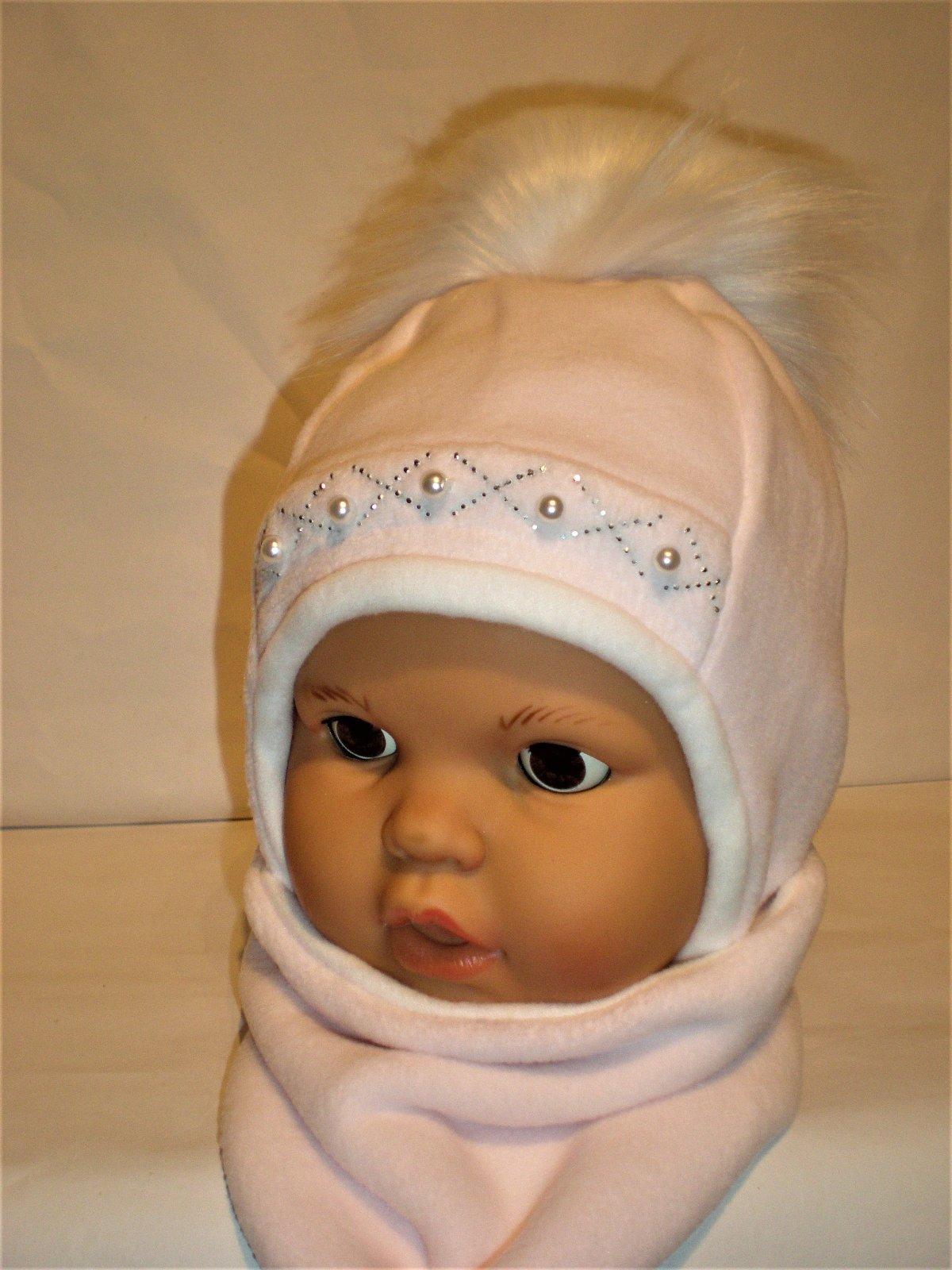 d5c3fb1cd Zimná čiapka s nákrčníkom pre bábätko, 74 / 80 - 10 € od predávajúcej  topciapocky | Detský bazár | ModryKonik.sk