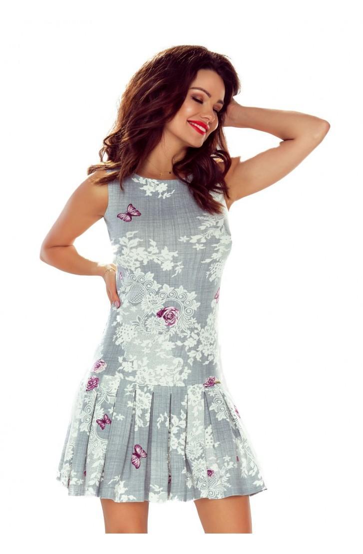 f96405348f09 Štýlové šaty s potlačou