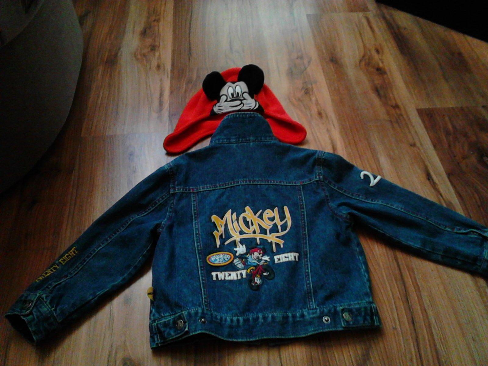 Riflová bunda s mickey mouse 5b1e9e8fa4