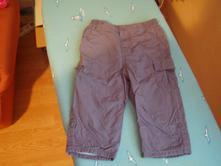 Tmavomodré jarné podšité nohavice, f&f,80