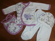 Novorodenecká súprava - dance - fialová cca 56   , 56
