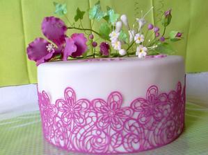 narodeninova pre sestru, kvety z potahovej hmoty jedle, a jedla krajka