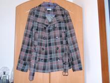 Károvaný kabátik na prechodné obdobie, c&a,38