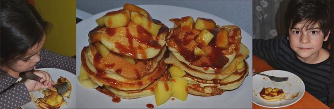 Tvarohové lievance s dusenými jablčkami a karamelom ♥