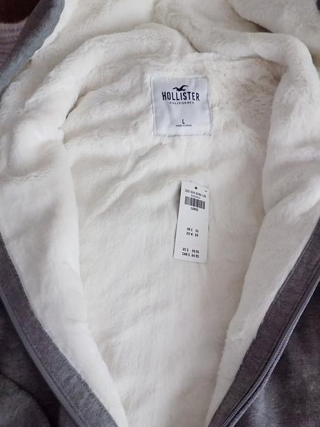 Mikina hollister s kožuškom šedá veľ. m a l 021d66da7ef