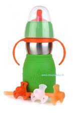 8cc26db78961 Nerezové detské fľaše s uškami Safe Sippy 2 pre deti +6m 3 fotky