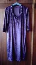 Tmavovínové sviatočné šaty , xxl