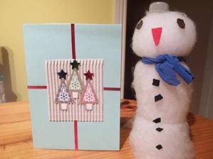 minulohorocny snehuliak  plastovej flase a moja recy pohladnica k vianociam