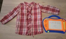 Bordová károvaná košeľa kiki koko 92, kiki&koko,92
