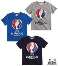 Uefa euro 2016 tričko s krátkym rukávom 3ks, 104 / 116 / 128 / 140