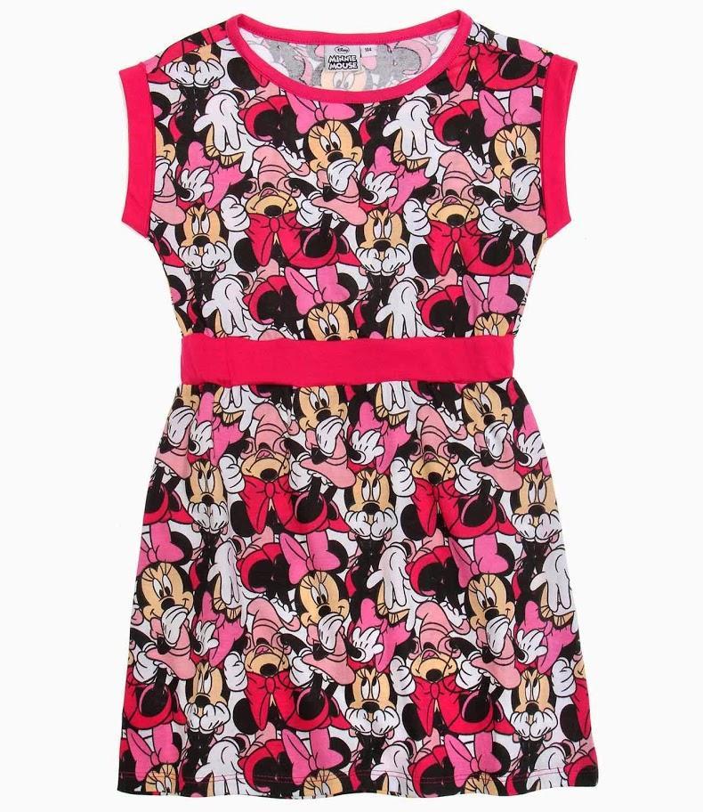 Letné dievčenské šaty minnie s krátkym rukávom 123ce57dc34