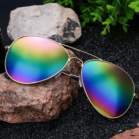 7b194b6e9 Slnečné okuliare zrkadlovky dúhové, - 7,50 € od predávajúcej vlastip    Detský bazár   ModryKonik.sk