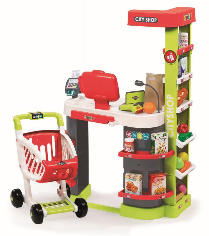 84566b814932 Detský obchodík smoby city shop červeno-zelený