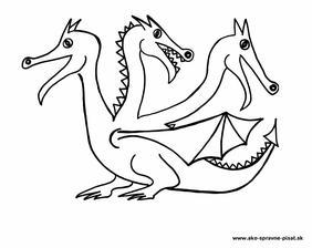 Drak - Dokresli drakovi zuby a zubatý hrebienok podľa predlohy.
