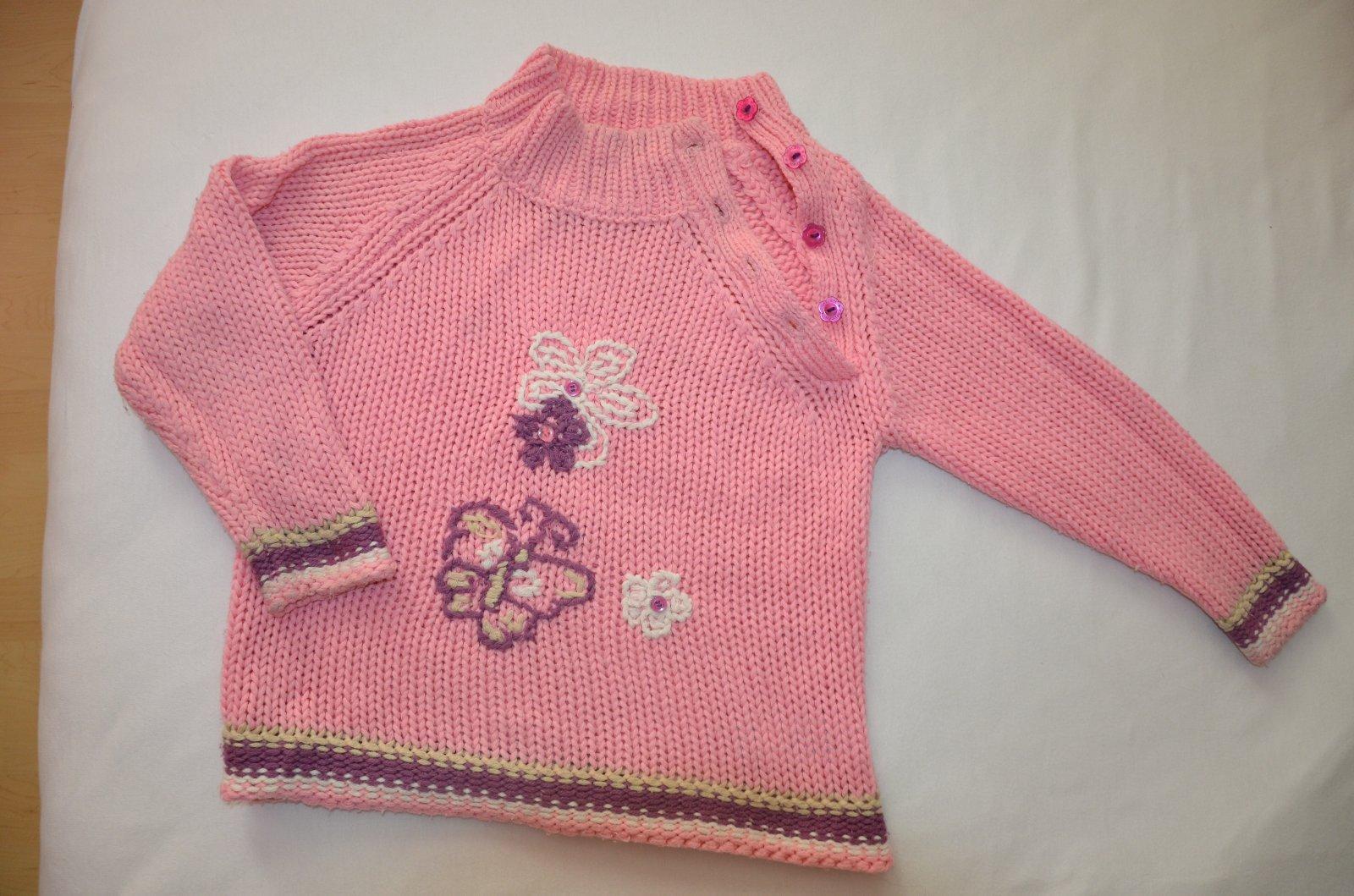 d0d10d1b9ce6 Dievčenský pletený sveter - dlhý rukáv