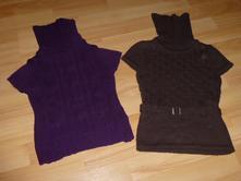 Rolákové pulóvriky s krátkym rukávom - 2 ks, palomino,104