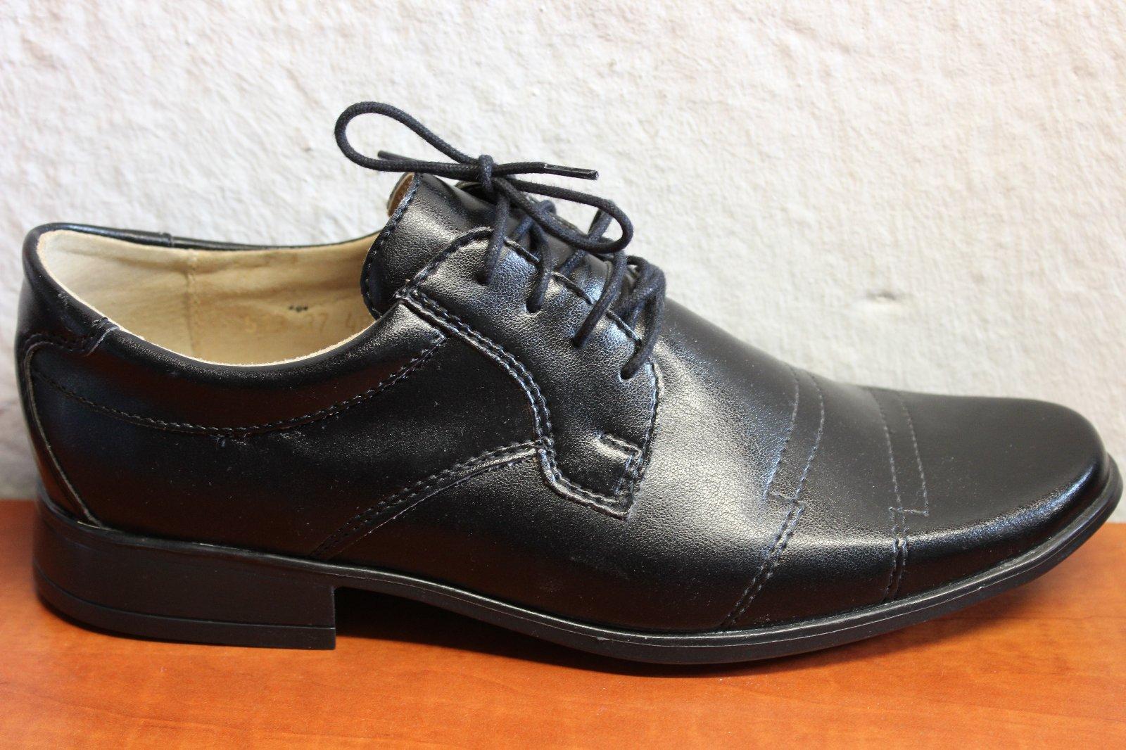 adf22e3edd Chlapčenské spoločenské topánky 9520 b + z