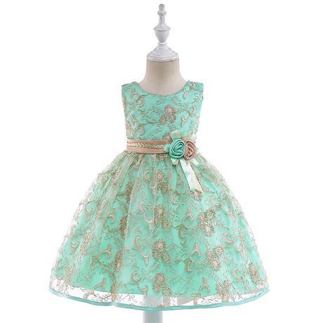22de63c4bb85 Krásne detské šaty l9030 - tyrkysové