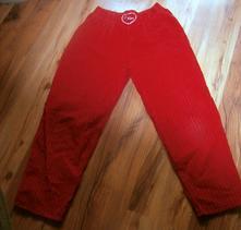 Menčestrové červené nohavice, 140