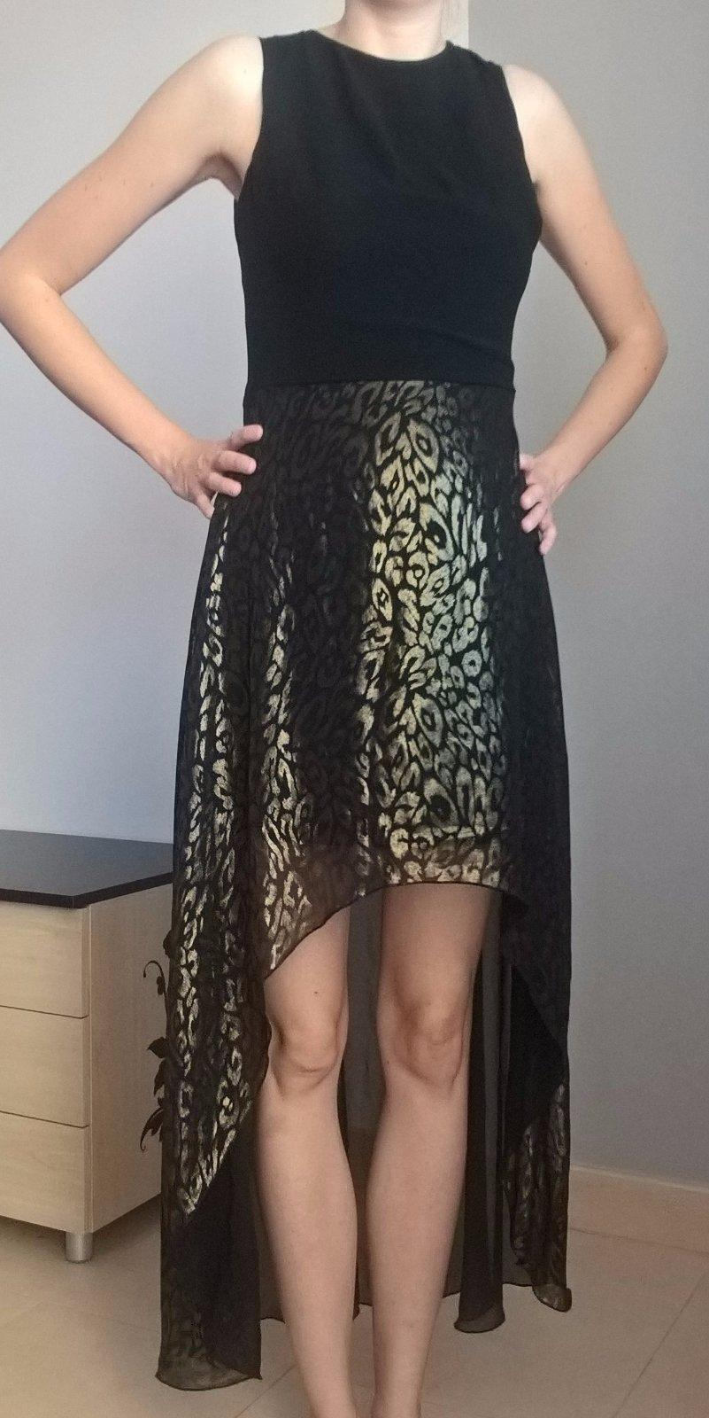 Čierno zlaté spoločenské šaty č. 36 - 38 6cb0511f213