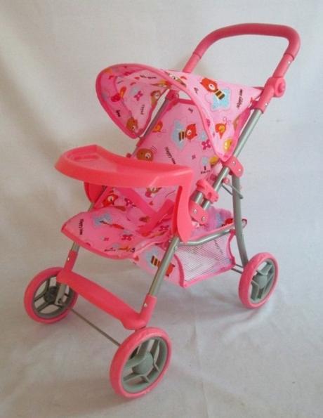 Športový kočík pre bábiky baby mix 9366t-m1404,